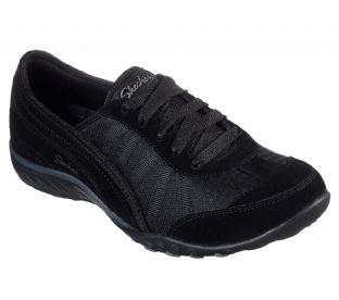 Skechers Womens 23845 BLK Black Breathe Easy Weekend Wishes Relaxed Fit Trainers